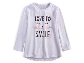 Dievčenské tričko VENERE SMILE biele