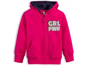 Dievčenská mikina VENERE GRL PWR ružová