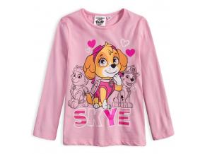 Dievčenské tričko PAW PATROL SKYE svetlo ružové