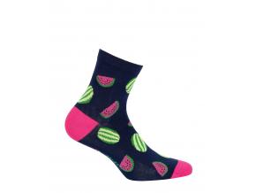 Dámske ponožky so vzorom GATTA MELÓNY modré