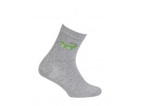 Chlapčenské ponožky so vzorom GATTA KROKODÝL šedé