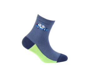 Chlapčenské ponožky so vzorom GATTA AUTO S MAJÁKOM modré