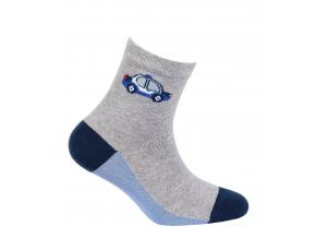 Chlapčenské ponožky so vzorom GATTA AUTO S MAJÁKOM šedé