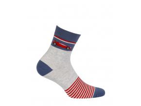 Chlapčenské ponožky so vzorom GATTA AUTO červené prúžky