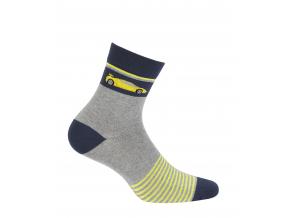 Chlapčenské ponožky so vzorom GATTA AUTO žlté prúžky