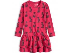 Dievčenské šaty VENERE MAČIČKY ružové