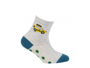 Chlapčenské vzorované ponožky WOLA TAXI šedé