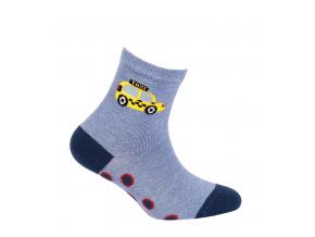 Chlapčenské vzorované ponožky WOLA TAXI modré