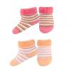 Dojčenské froté ponožky 2 páry oranžová + ružová