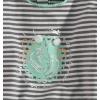 Dievčenské tričko DIRKJE korčule, sivo-zelené