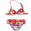 Dievčenské plavky KNOT SO BAD s opaskom so sponou, oranžové