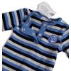 Dojčenský overal DIRKJE modrosivý pásik