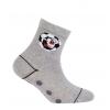 Chlapčenské vzorované ponožky WOLA FUTBAL šedé