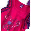 Dievčenské tričko bez rukávov DIRKJE HEART tmavoružové