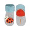 Dojčenské ponožky s hrkálkou SOXO LIENKA šedé