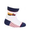 Dojčenské chlapčenské ponožky WOLA NÁKLADIAK biele