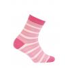 Dievčenské ponožky WOLA PRÚŽKY ružové