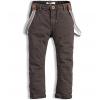 Chlapčenské nohavice s trakmi MINOTI COOL tmavohnedé