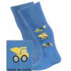 Pančuchy so vzorom pre chlapcov WOLA STAVEBNÉ AUTÁ modré jeans