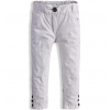 Dievčenské plátenné nohavice DIRKJE biele