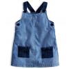 Dievčenské šaty KNOT SO BAD DENIM STYLE tmavšie modré