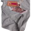 Dievčenské tričko s meniacimi flitrami KNOT SO BAD KISS šedé