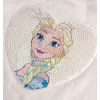 Dievčenské tričko s preklápacími flitrami DISNEY FROZEN ELSA smotanové