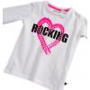 Dievčenské tričko Mix´nMATCH ROCKING biele