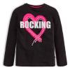 Dievčenské tričko Mix n Match ROCKING čierne