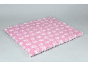 vet bed deka ružová rozmer 150x100cm