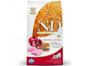 ND Ancestral Grain 2.5kg Adult medium & maxi CHICKEN & SPELT [3D Front]@print