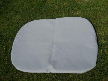 Povlak na polštář z batohoviny šedá