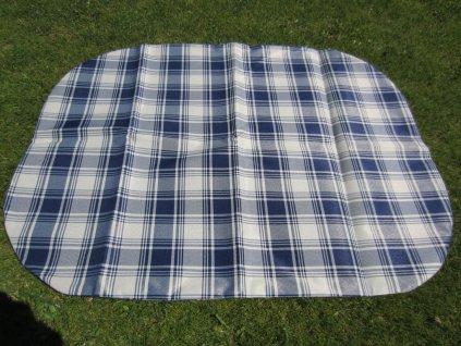 Povlak na polštář z batohoviny modrá kostka