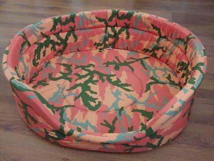 Pelech bavlna řada Army pink