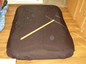 Povlak na polštář z batohoviny hnědá