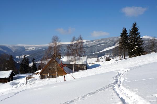 Ubytování se psem v Krkonoších - horská chata Borůvka