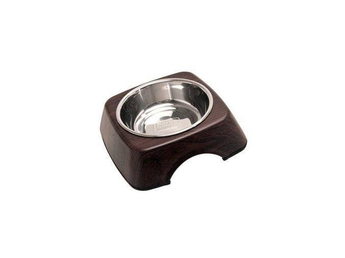 Nerezová miska pro psa - wenge
