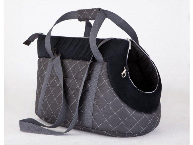 Taška pro psa cestovní - šedá s černou