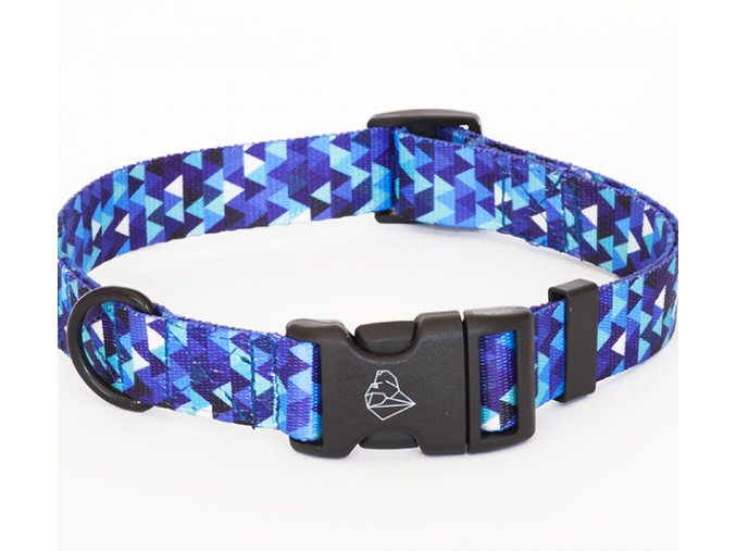 designovy obojek pro psa Shine blue 1