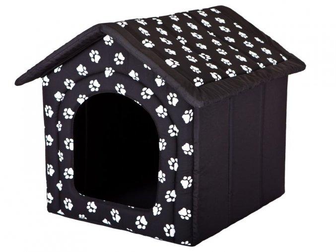 latkova bouda pro psa cerna hobbydog