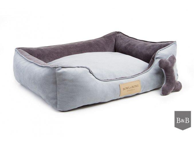 luxusni pelisek pro psa classic grey bowl and bone