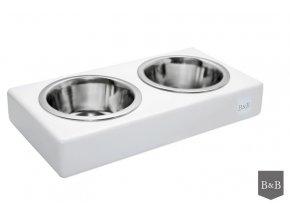 Luxusní miska pro psa Duo bílá