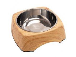Nerezová miska pro psa - borovice