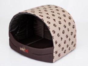 Pelíšek pro psa Suflera - béžový packy