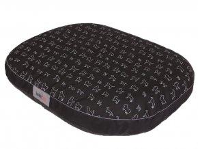 odolna matrace pro psa cerna oval