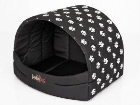 Pelíšek pro psa Suflera - černá a packy