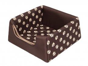 Pelíšek pro psa Pyramida - hnědý a packy