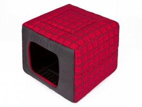 latkova bouda pro psa cervena