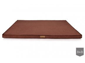 Luxusní matrace pro psa Chill Chocolate bowl and bone
