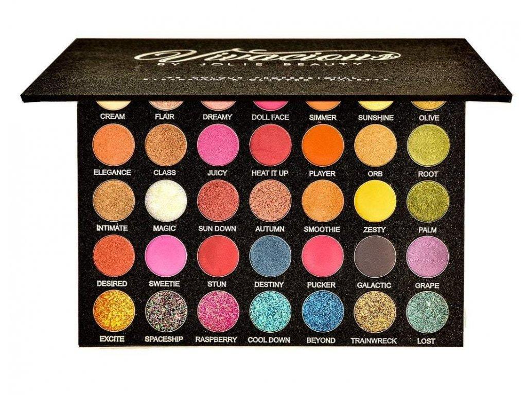 Paleta očných tieňov Jolie Beauty - Vivacious